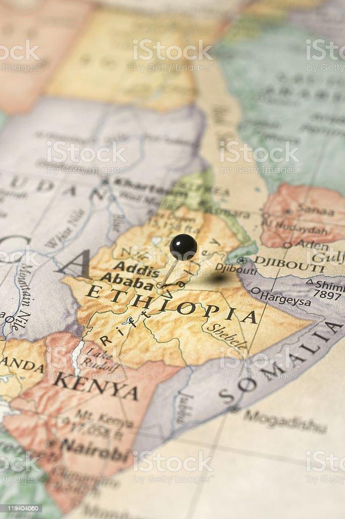 map of Ethiopa stock photo