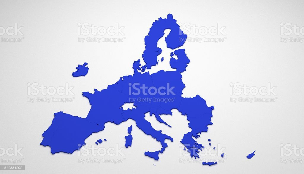 3D map of European Union stock photo
