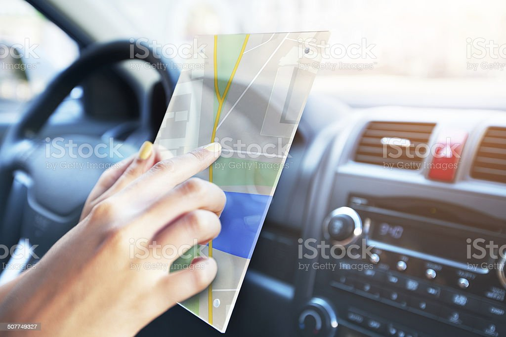 Map of future concept stock photo