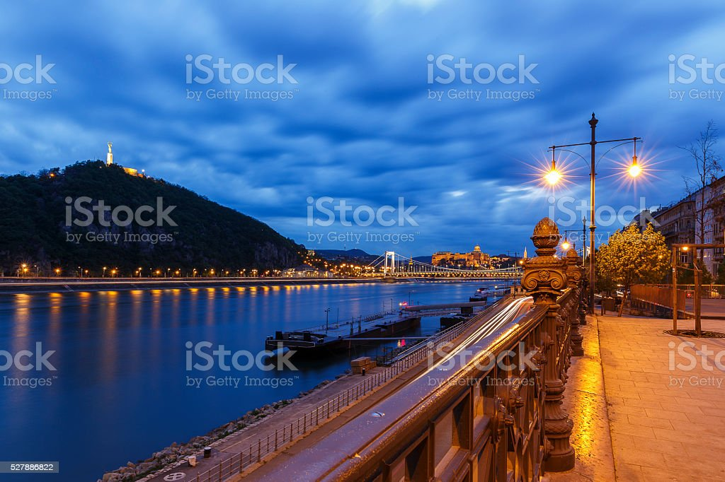 Map of Gellert Hill and Buda Castle.Budapest stock photo