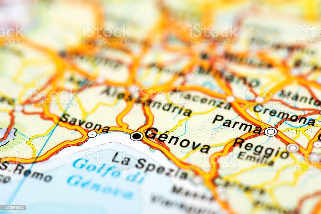 Map of Genova stock photo