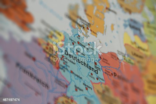 Map Of Germany Stock Photo IStock - Germany road map 2015
