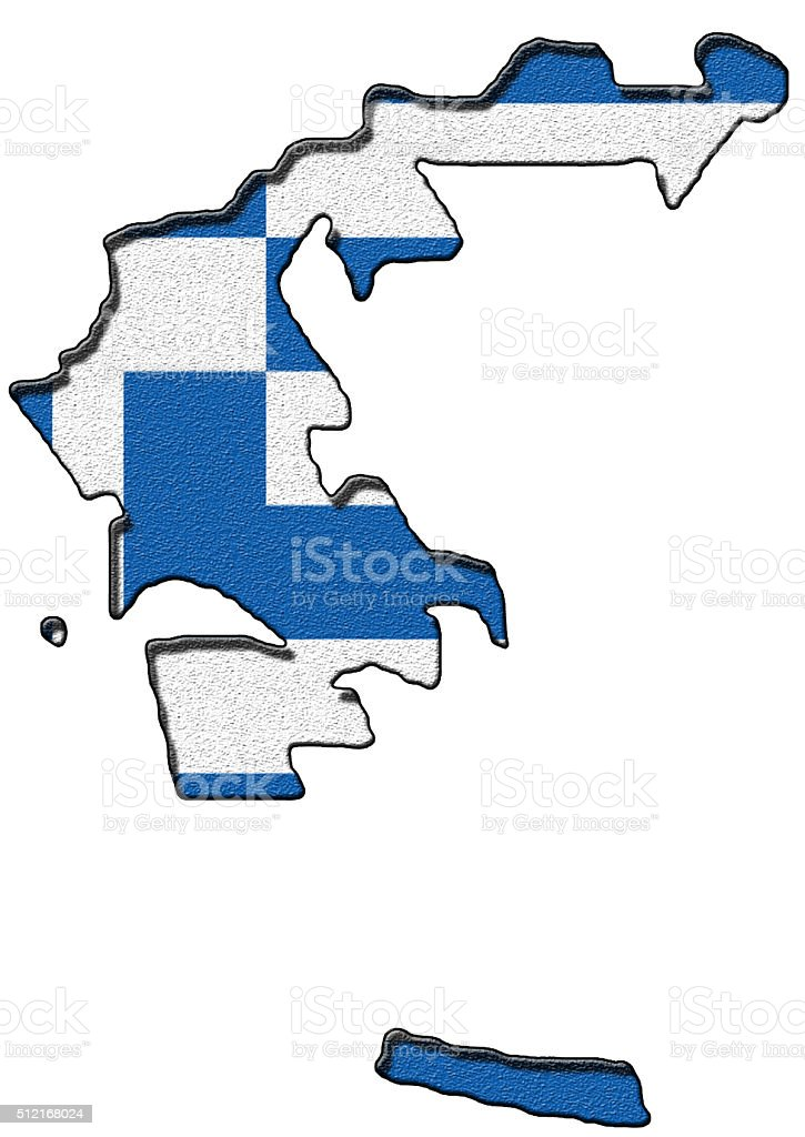 Map of Greece stock photo
