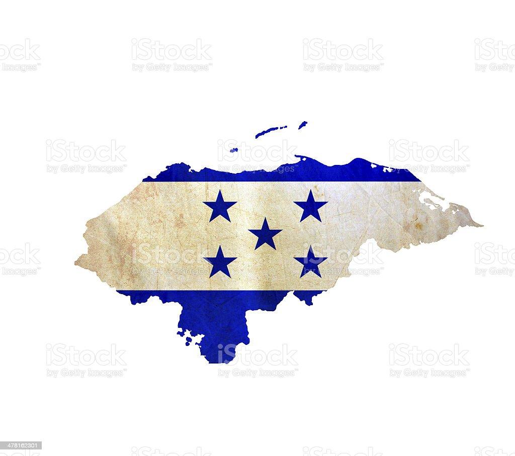 Map of Honduras isolated stock photo