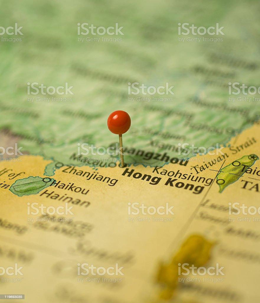Map Of Hong Kong stock photo