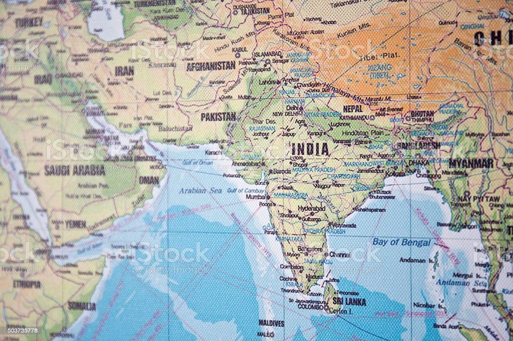 Map Of India And The Middle East stock photo 503735778 – Map of Iran and India