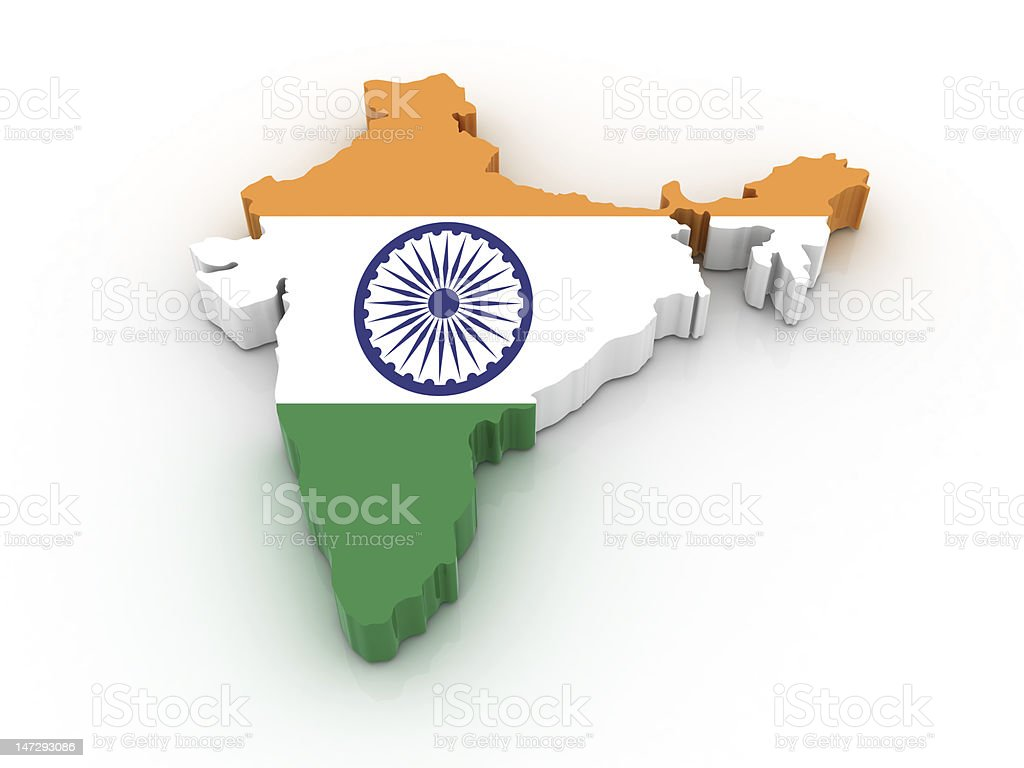 Map of India royalty-free stock photo