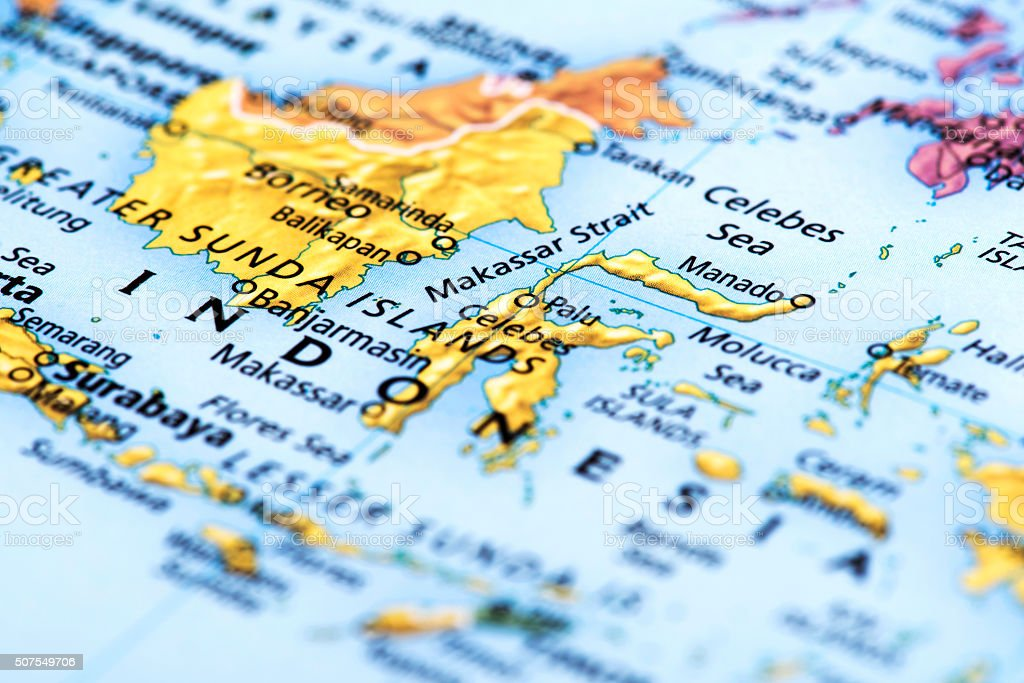 Map of Indonesia stock photo