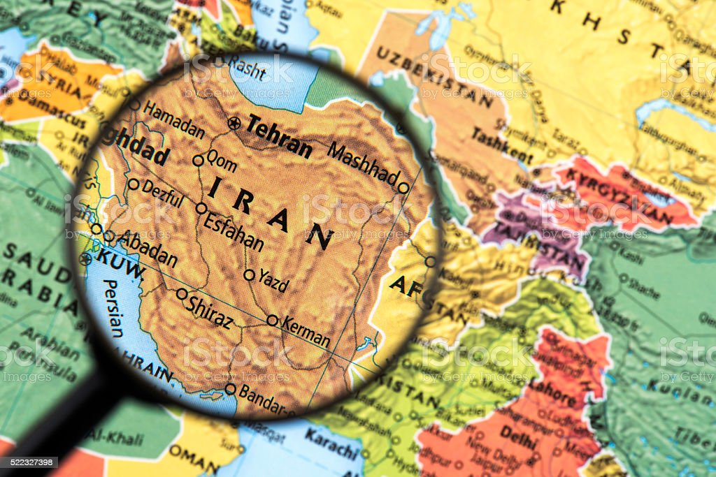 Map of Iran stock photo