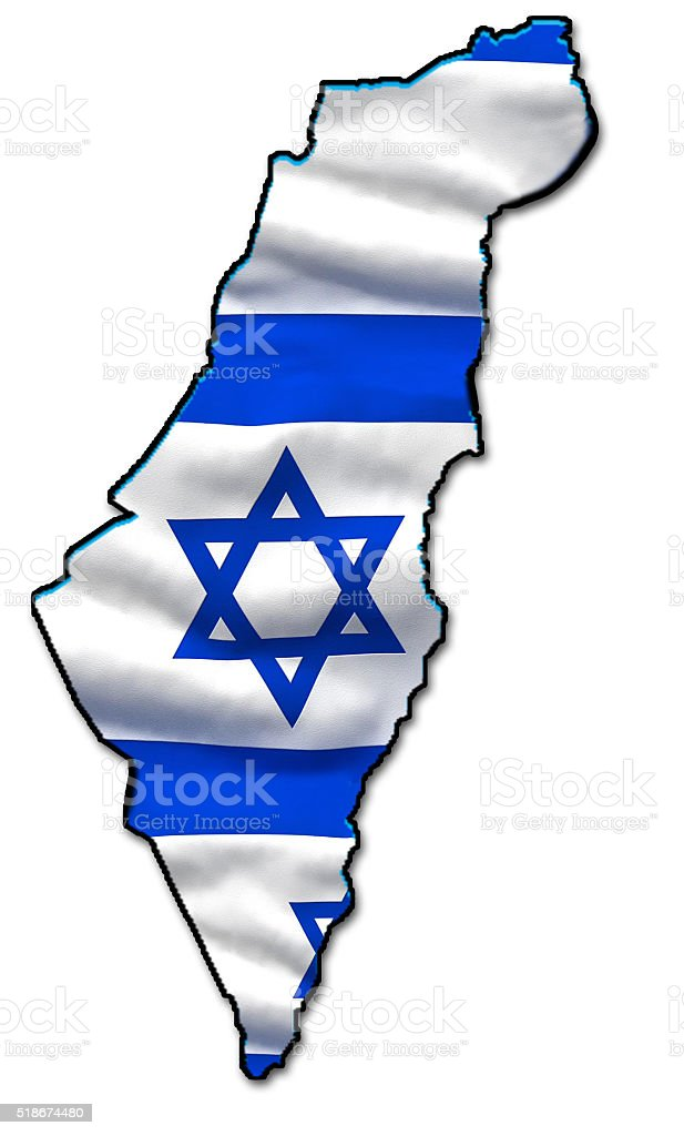 Map of Israel stock photo