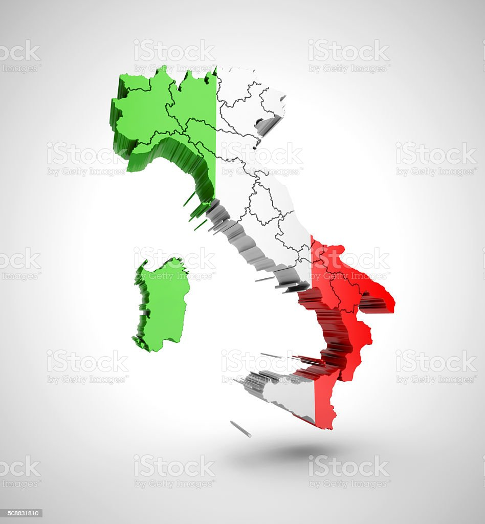 Map of Italy on a grey background royalty-free stock photo