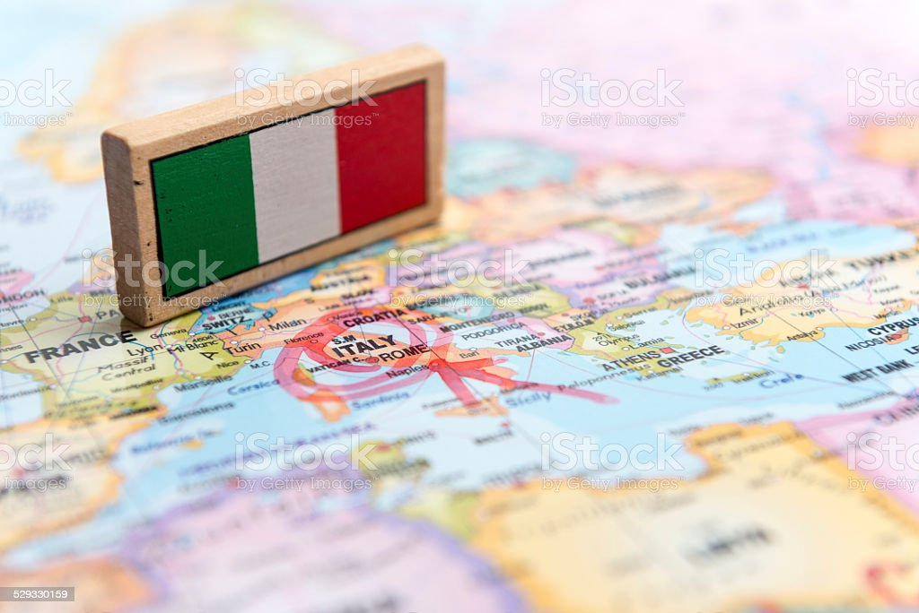 Mapa Włochy zbiór zdjęć royalty-free