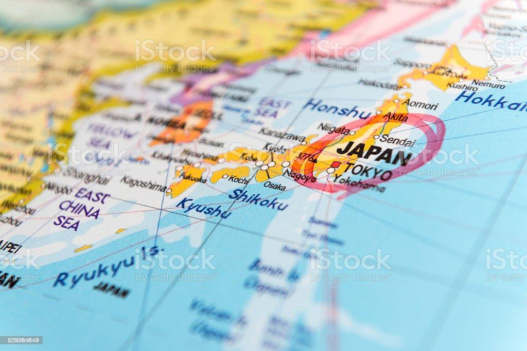 Mapa Japonii zbiór zdjęć royalty-free