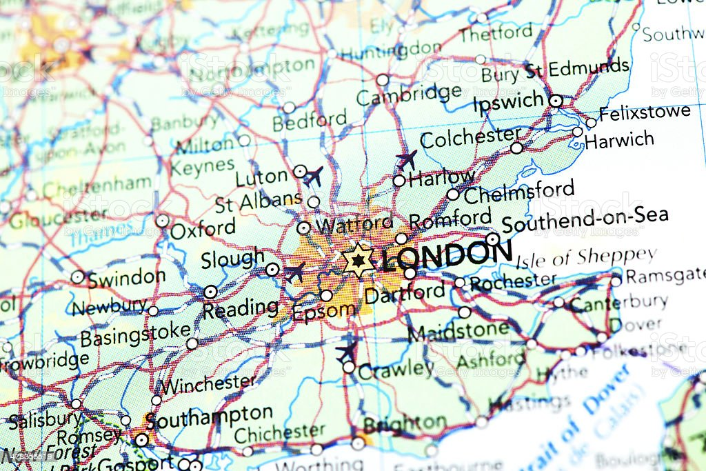 Map of London stock photo