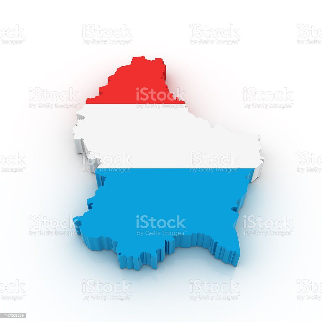 Map of Luxembourg stock photo