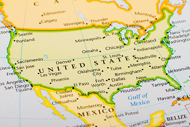 North America Map Pictures Images And Stock Photos IStock - Where is omaha on the us map