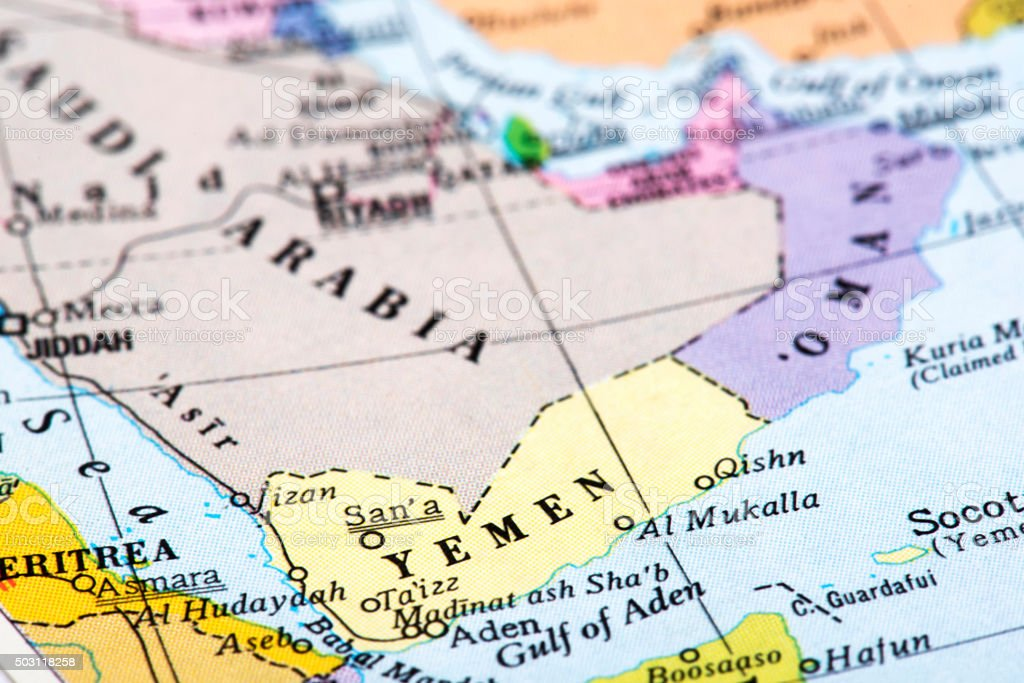 Map of Middle Eastern Countries stock photo