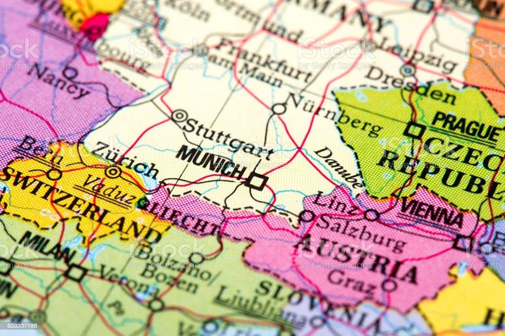 Map of Munich stock photo