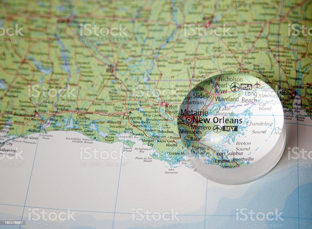 map of new orleans area stock photo