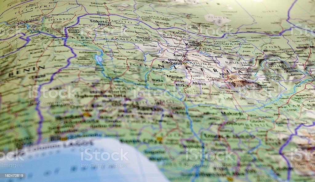 map of nigeria stock photo