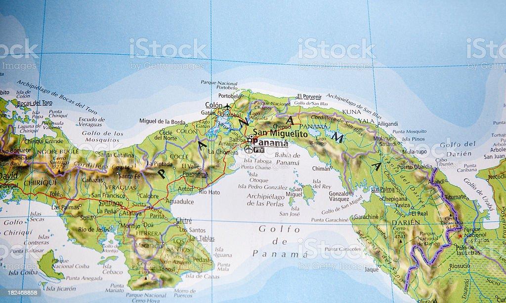 map of panama royalty-free stock photo