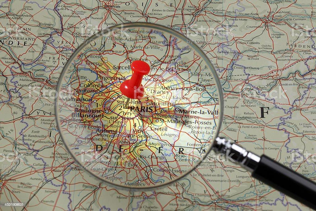 Map of Paris stock photo