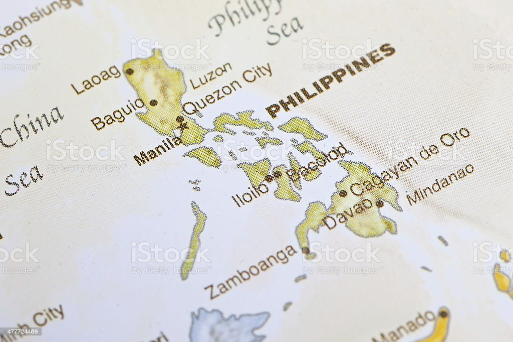 Map of Philippines royalty-free stock photo