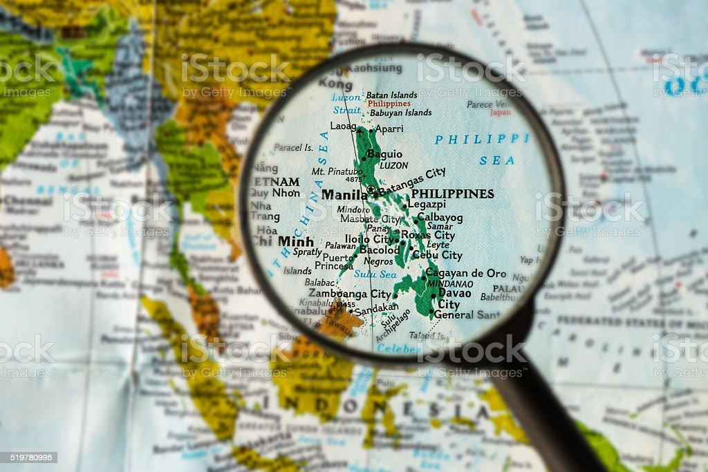 Map of Philippines stock photo