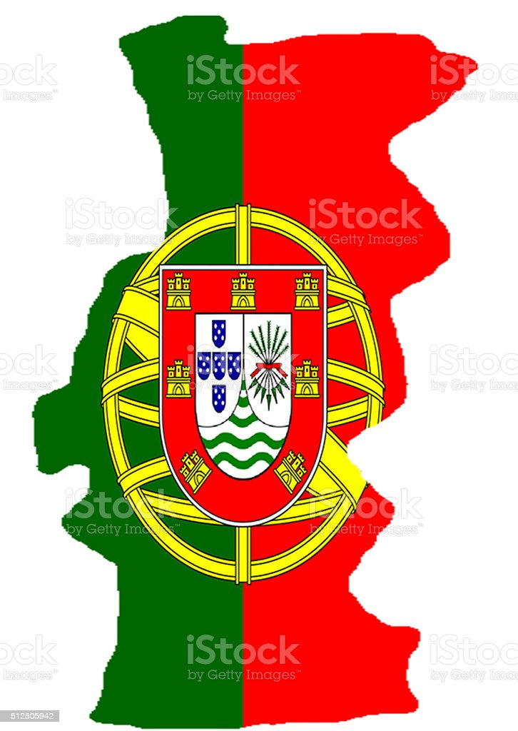 Map of Portugal stock photo