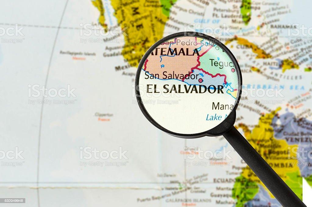 map of Republic of El Salvador stock photo