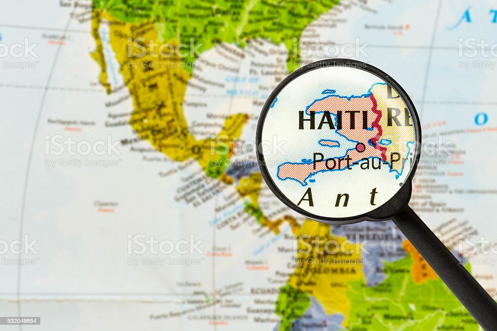 map of Republic of Haiti stock photo