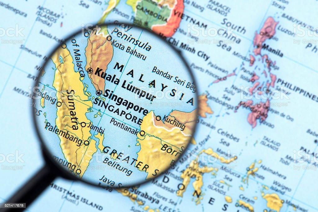 Map of Singapore stock photo