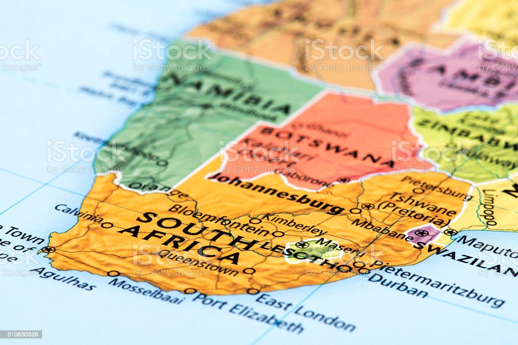 Map of South Africa Republic stock photo