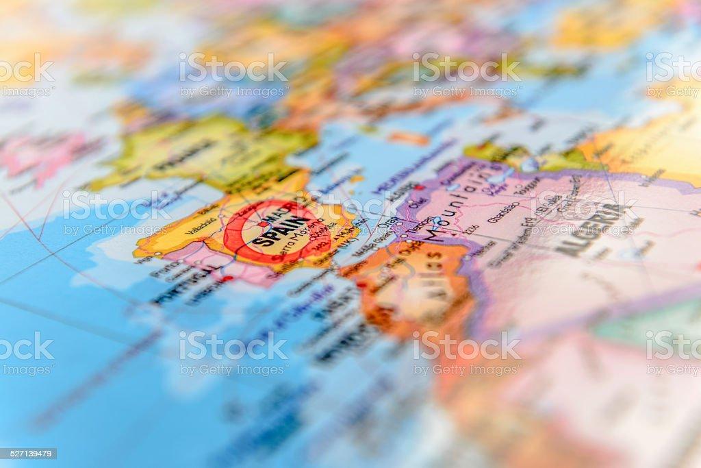 Mapa Hiszpanii zbiór zdjęć royalty-free