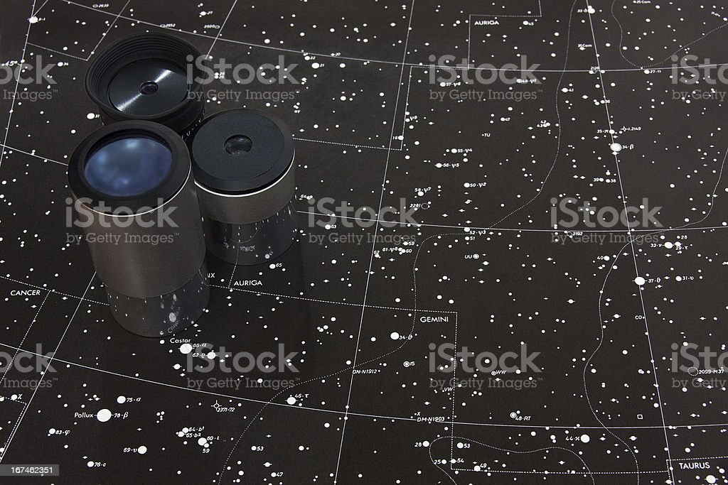 map of stars stock photo
