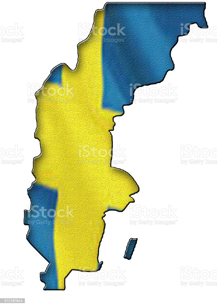 Map of Sweden stock photo