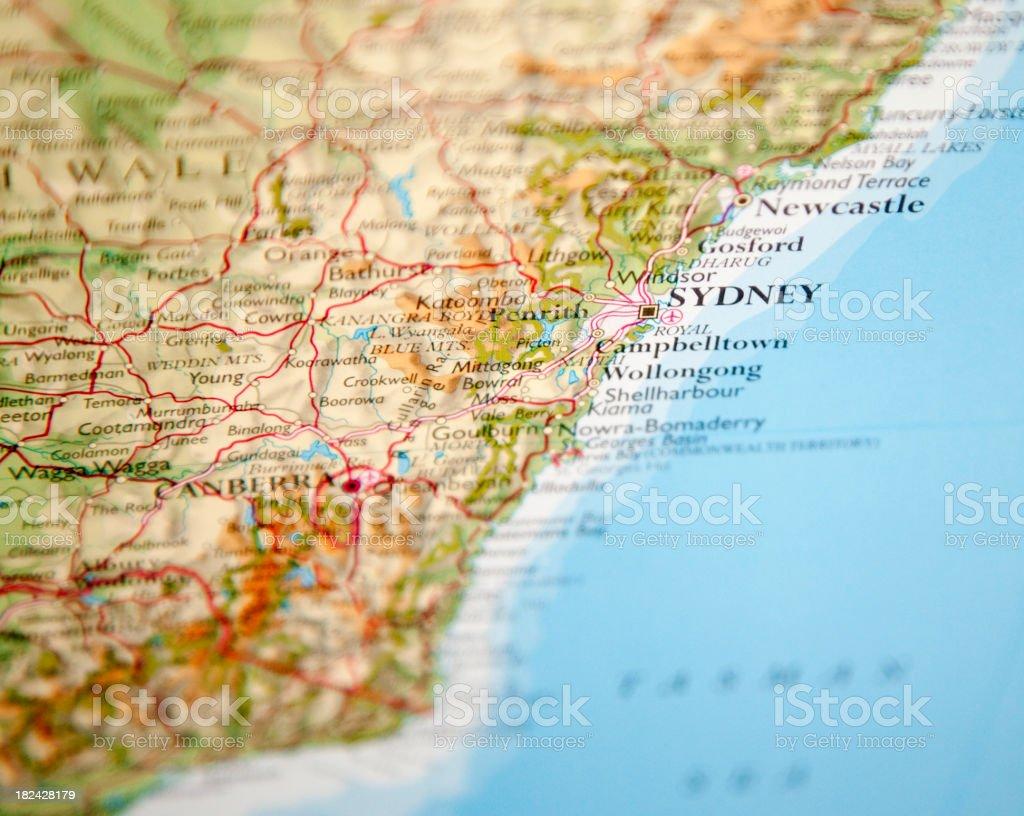 map of sydney area royalty-free stock photo