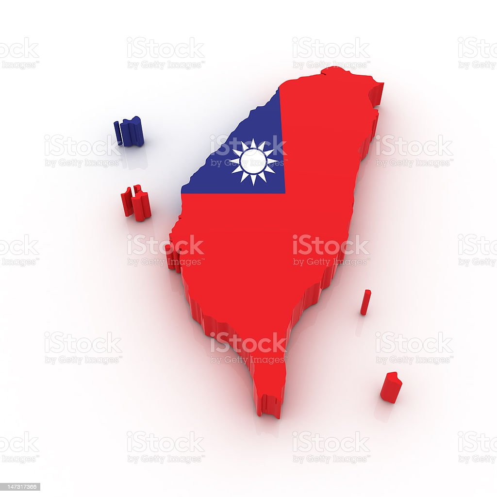 Map of Taiwan royalty-free stock photo