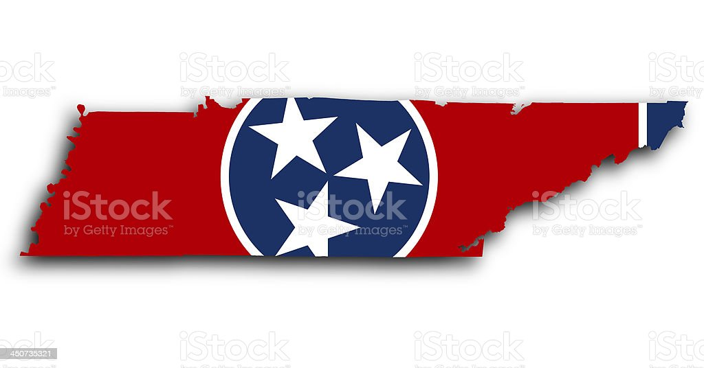 Map of Tennessee stock photo