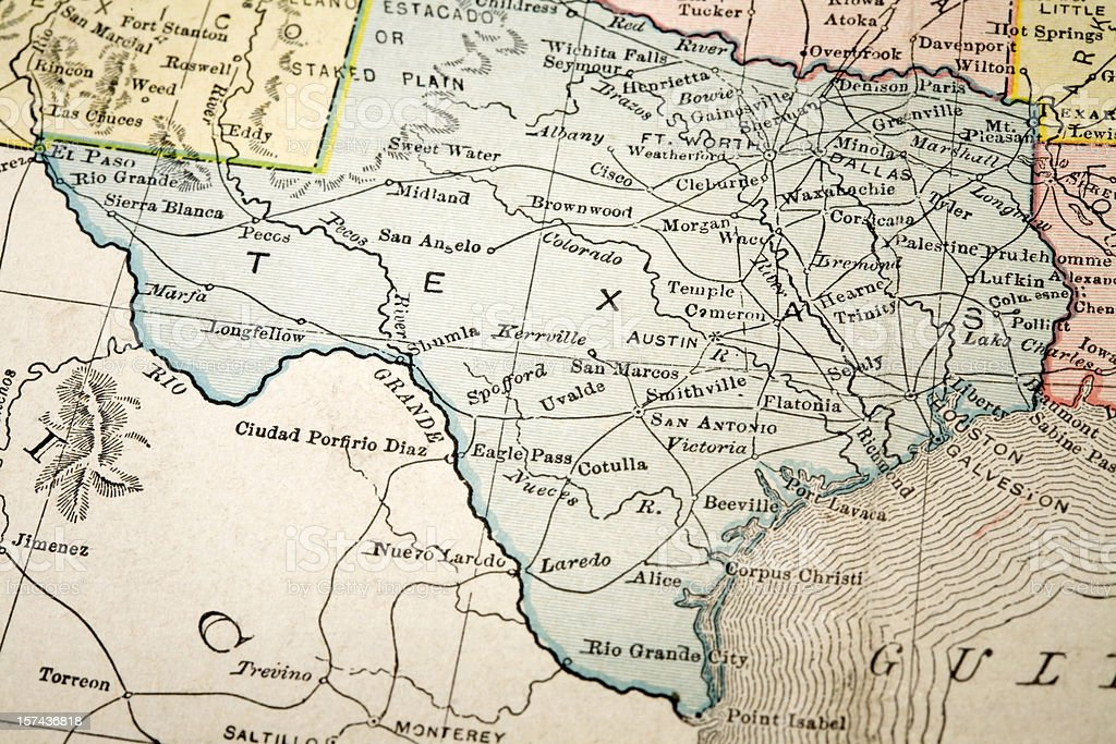 map of Texas royalty-free stock photo