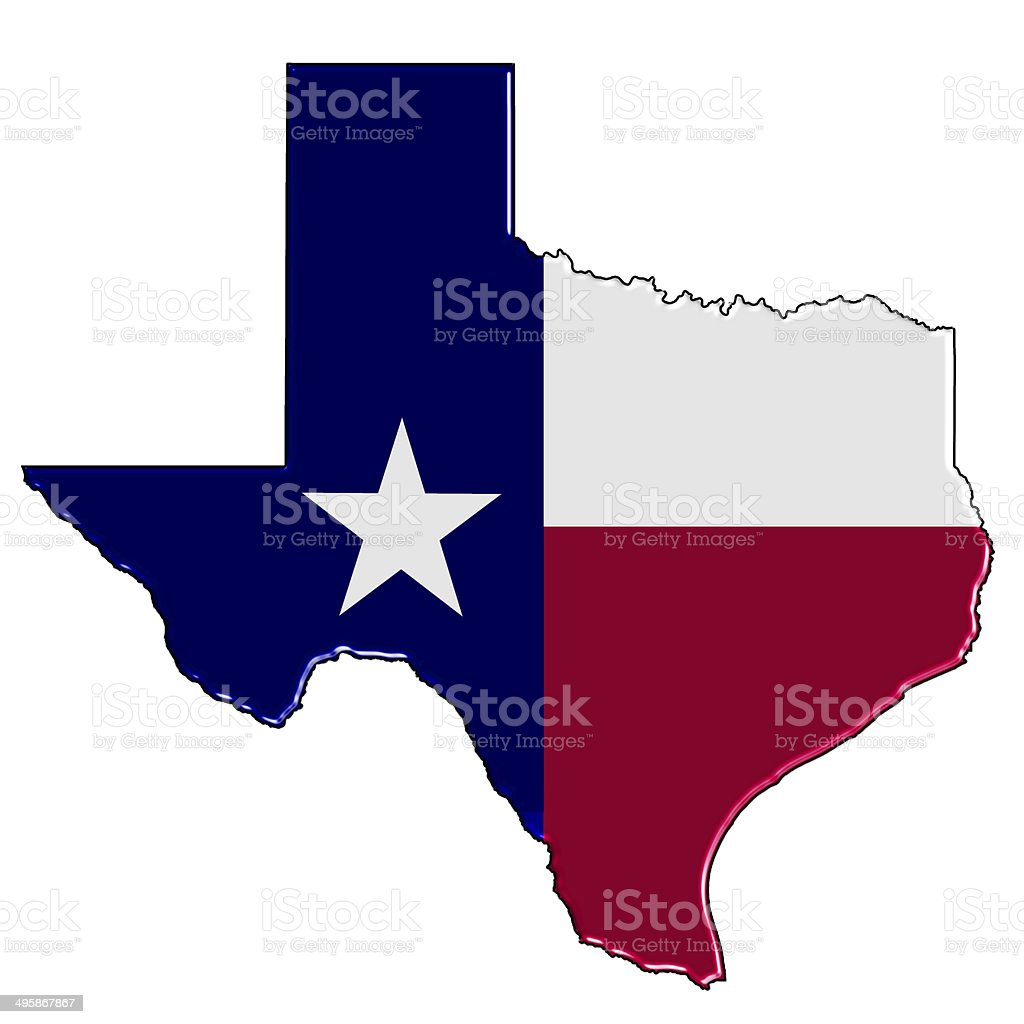 Map of Texas stock photo