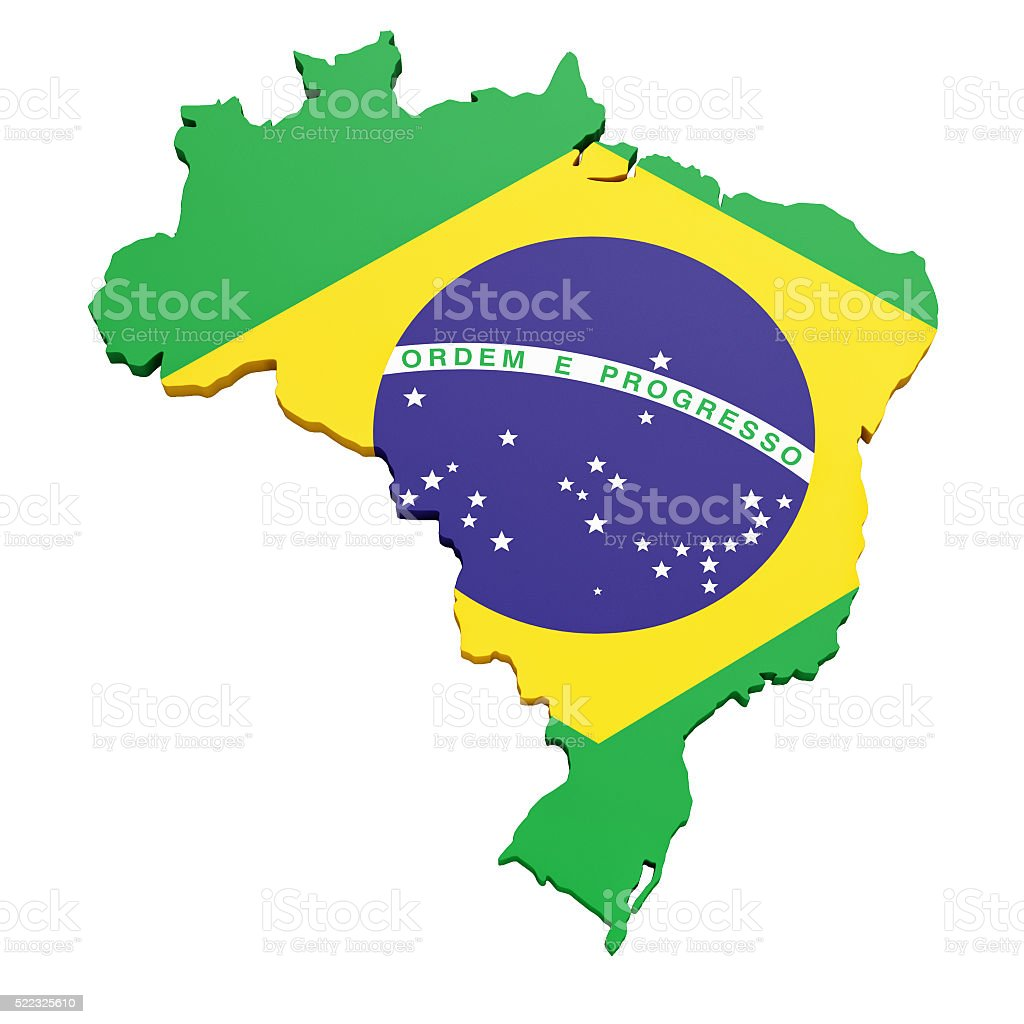 Map of the Federative Republic of Brazil - Stock image stock photo