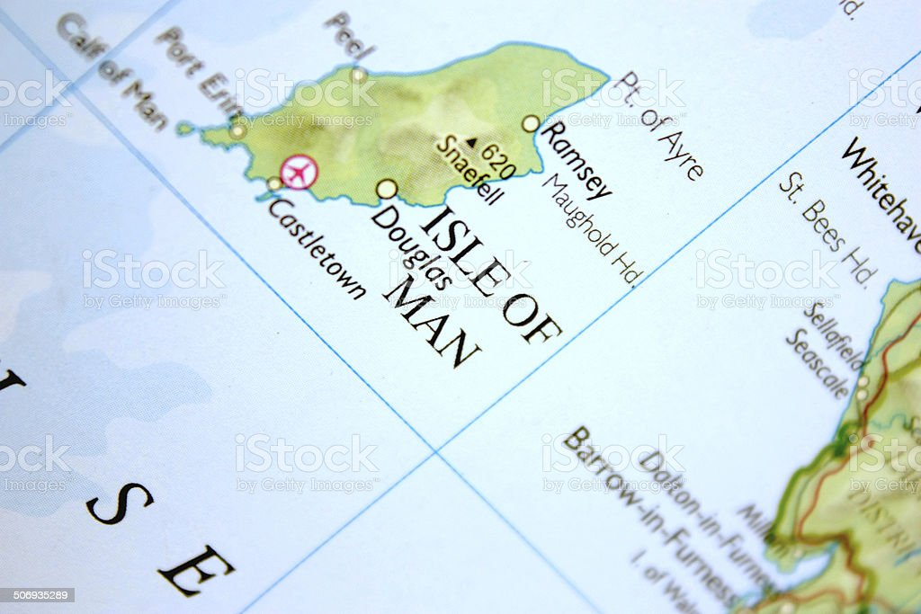 Map of the Isle of Man stock photo