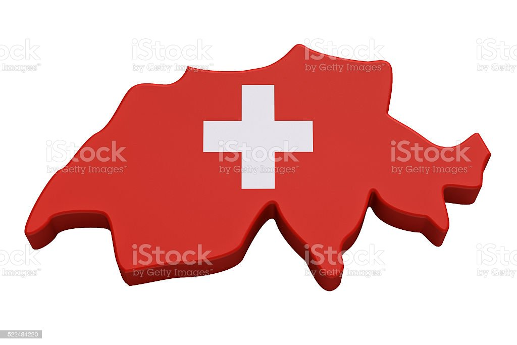 Map of the Swiss Confederation - Stock image stock photo