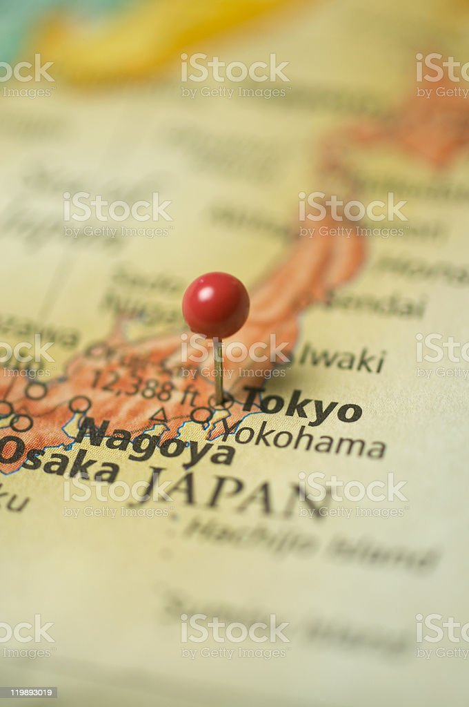 Map Of Tokyo,Japan stock photo