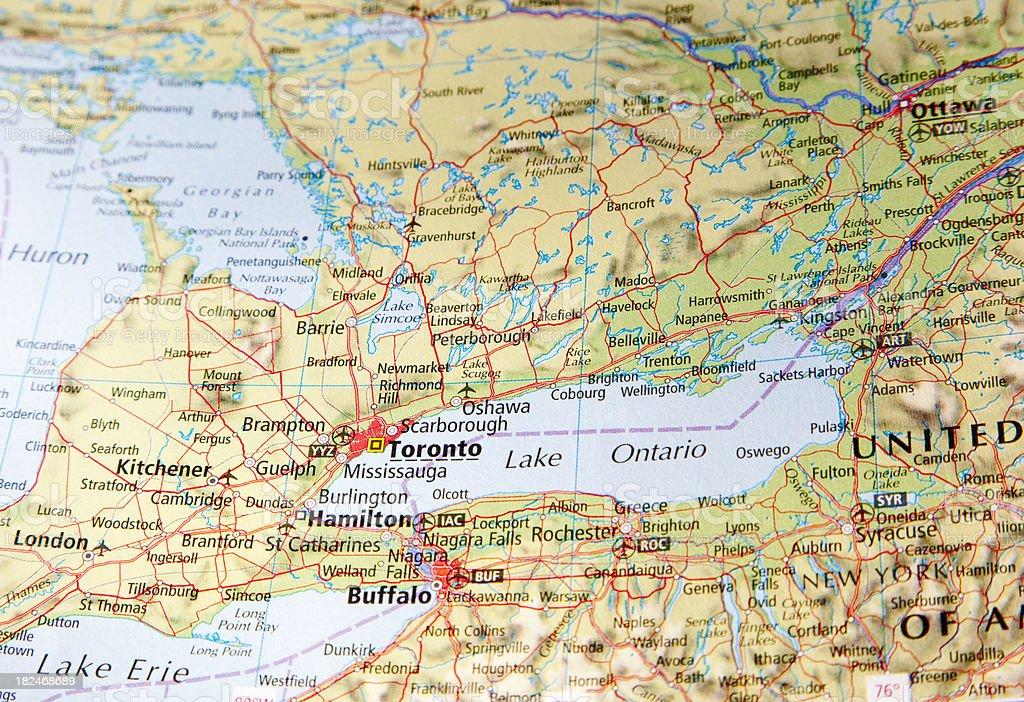 map of toronto area royalty-free stock photo