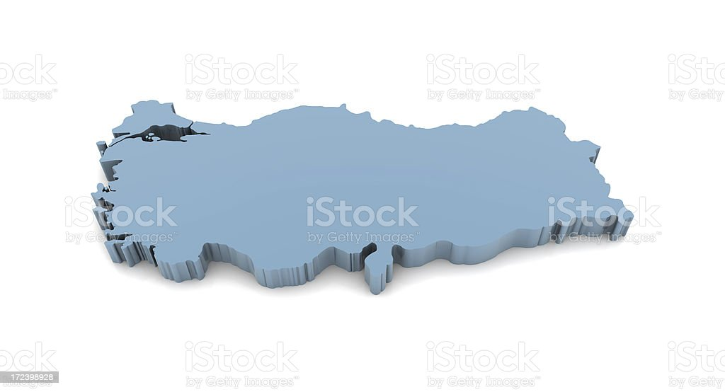 Map of Turkey royalty-free stock photo