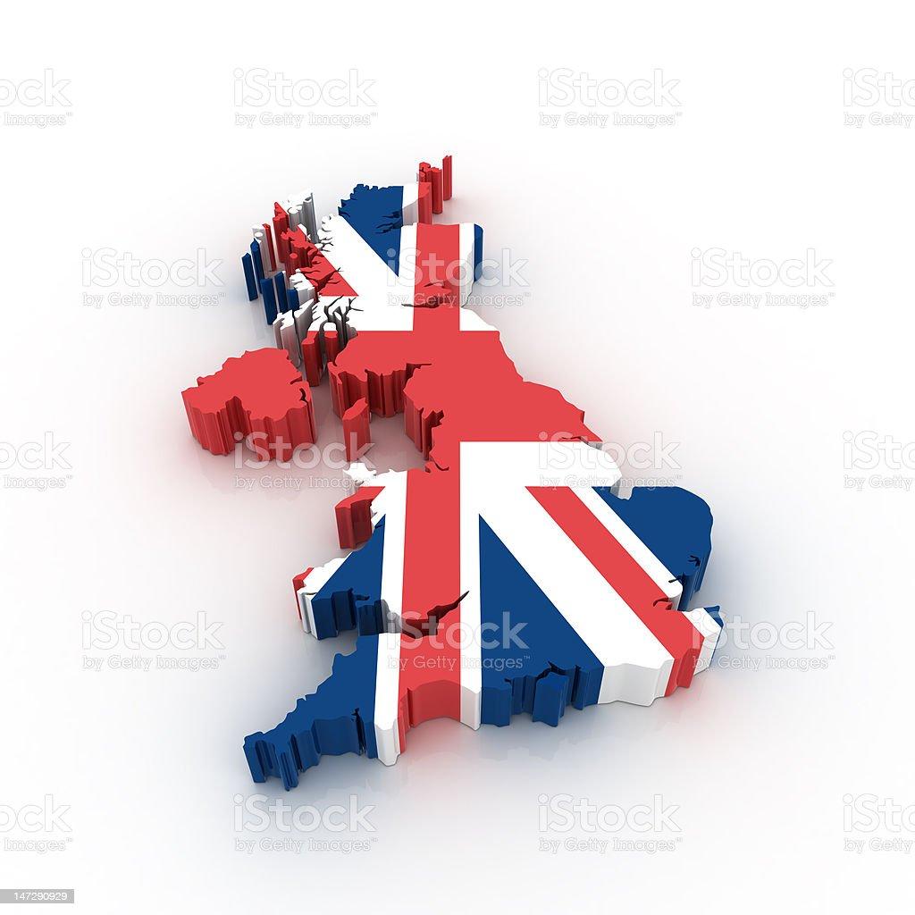 Map of United Kingdom stock photo