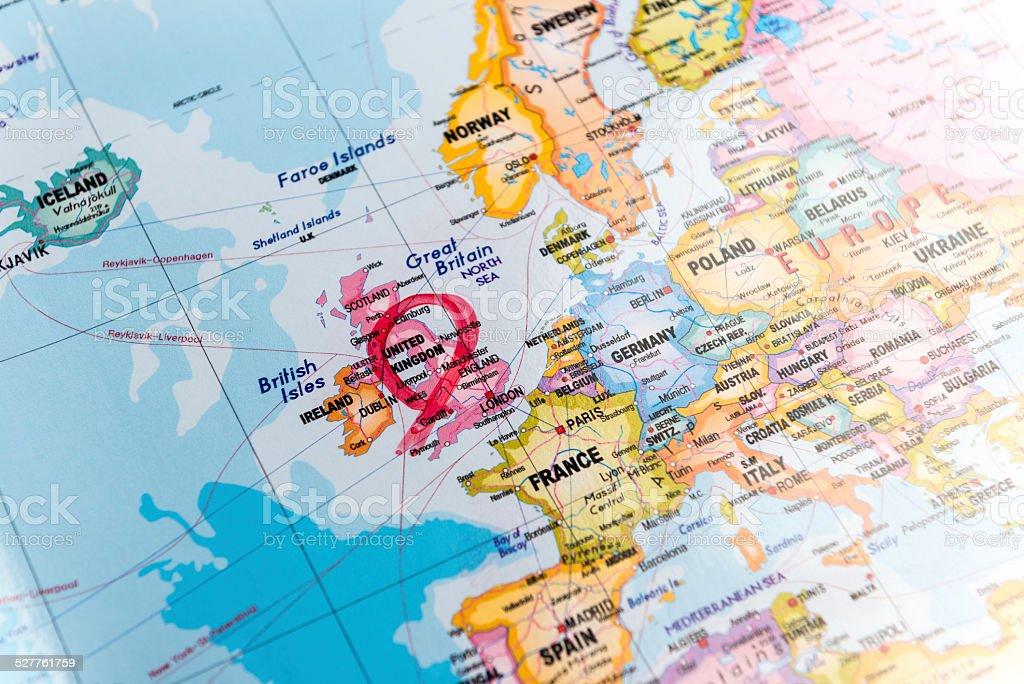 Mapa Wielka Brytania zbiór zdjęć royalty-free