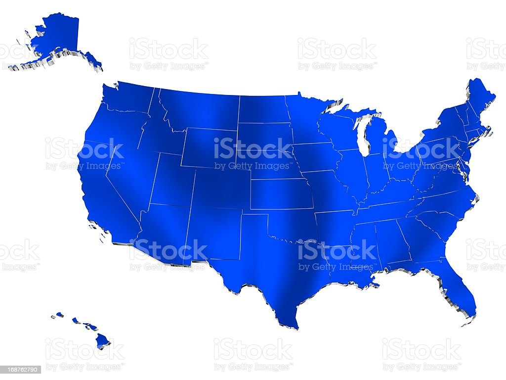 Map of USA royalty-free stock vector art
